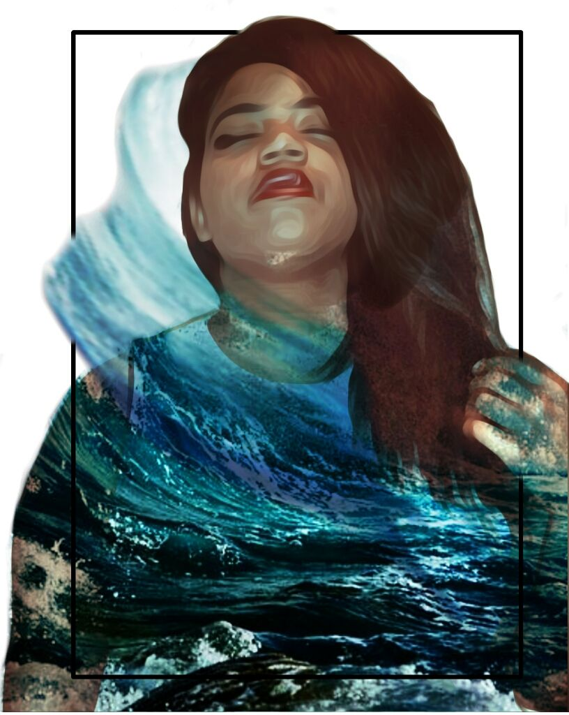 First submission for #wapshapes #waves #ocean  #doubleexposure  #doubleexposureedit  #me  #selfportrait