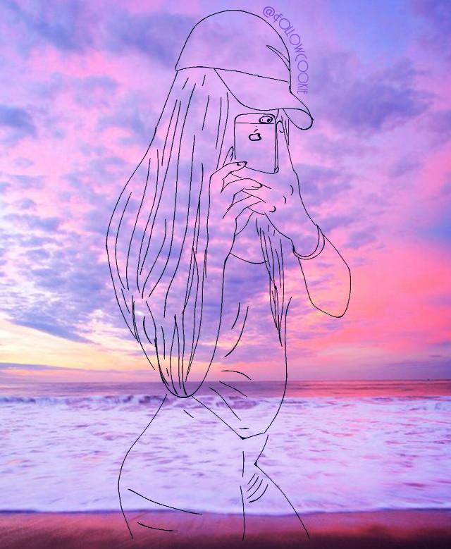 #selfie #mirror  #Asiangirl #FollowCookie #girl #sunset #evening