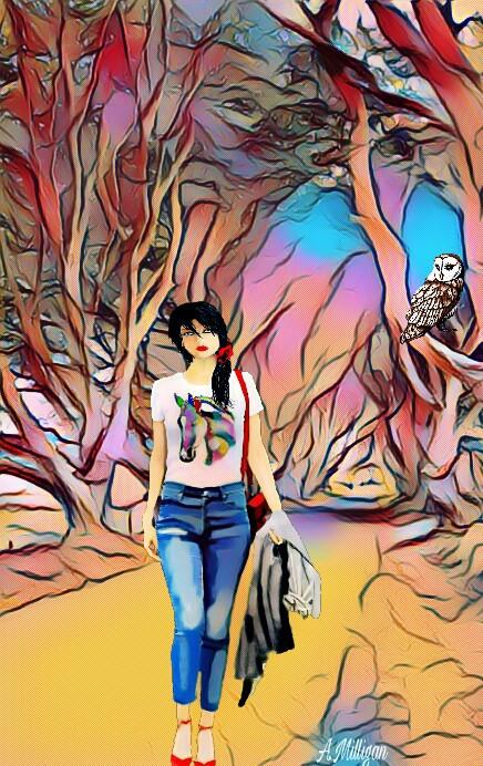 #wappopart  #colorsplash  #colorful  #trees  #road  #owl  #walking  #edit 😊💚❤