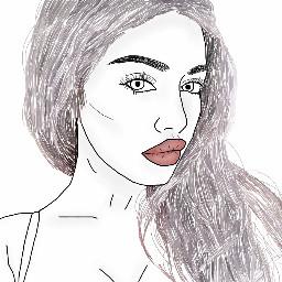 tumblr drawing outline greyhair tumblrgirl freetoedit