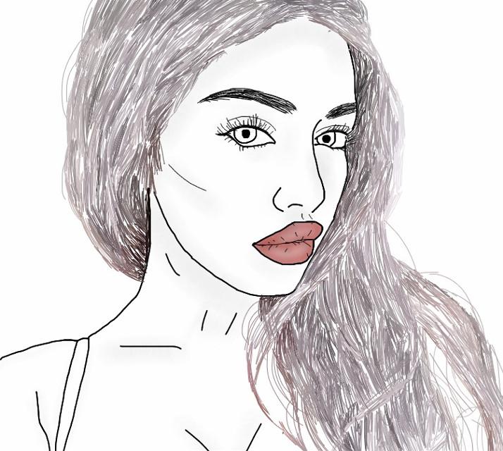 #tumblr #drawing #outline #greyhair #tumblrgirl #tumblroutline #tumblrdrawing #art #interesting #aesthetic #FreeToEdit