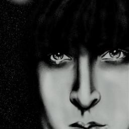 wdpnightsky blackandwhite drawing emotions freehand