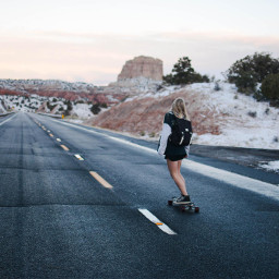 freetoedit road skate woman human