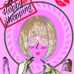 freetoedit colorful girl shopping happyshopping