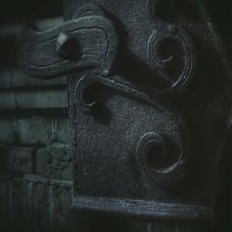 minimalism door doorhandle dark editing