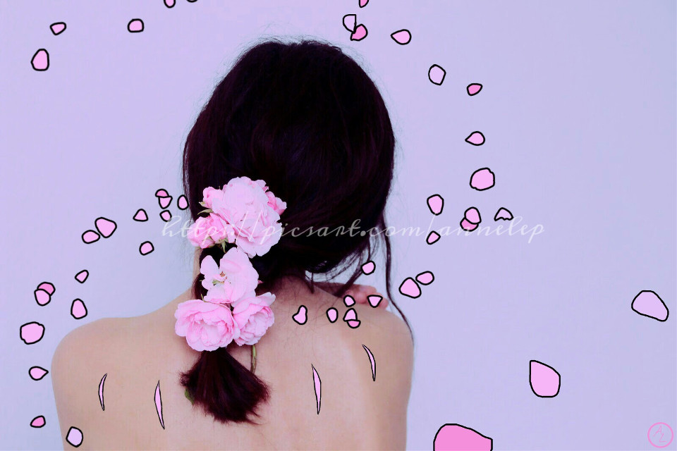 """""""The scars you left, they can't be unseen...""""  Thanks to Kemi Schneider ( @limitlessmindgames ) for the beautiful #FreeToEdit pic! :)  #scars  #girl  #pink  #pinkscars  #flowers  #flower  #petals  #pinkflowers  #drawon  #emotions  #edit  #editing"""