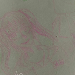 pink sketch art