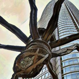 tokyo spider city art arte freetoedit