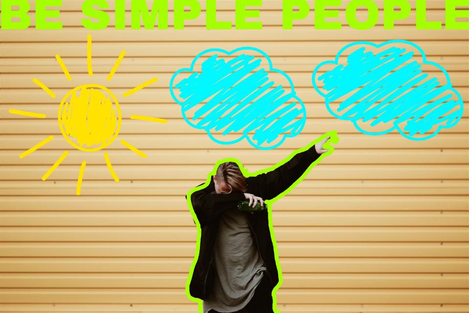 "#FreeToEdit "" BE SIMPLE PEOPLE """