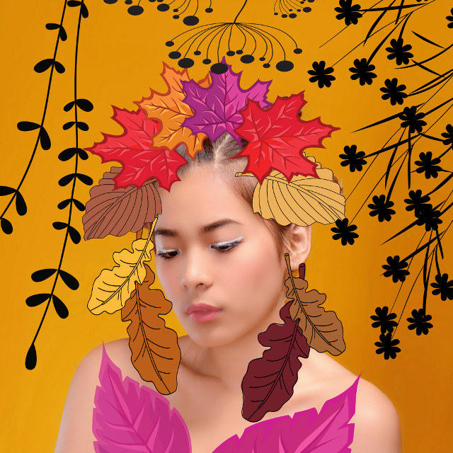 #FreeToEdit  #girl  #crown  #autumnleaves  #decoration #beauty #beautiful #beautifulgirl