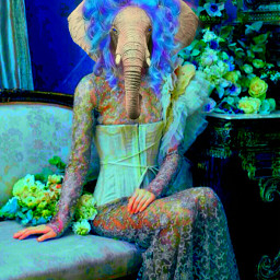 myoriginalwork originalart art fantasy elephant wdpzooanimals wapcostume waprenaissancepets echumananimalhybrid