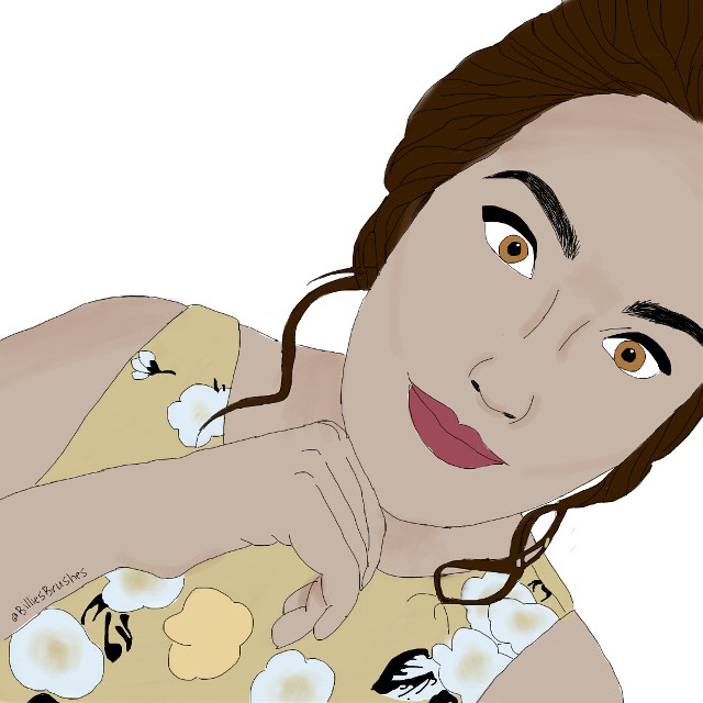 #FreeToEdit Another drawing of another very close friend 💕 #browneyes #brownhair #prom #linedrawing #digitalartist #newartist #follow #follow4follow #followme #like #likeforlike