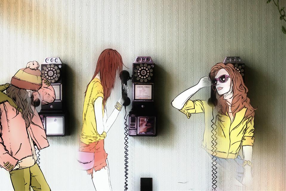 Hello? #FreeToEdit  #remix  #streetstyle  #phones