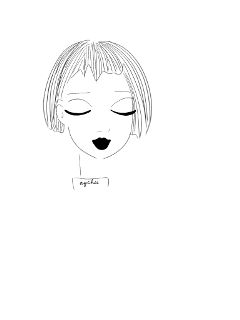freetoedit drawing blackandwhite girl cute