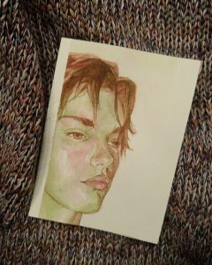 watercolour portrait maleportrait