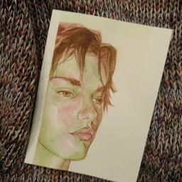 watercolour portrait maleportrait