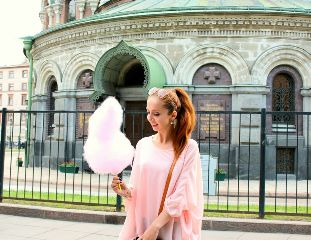 pink cottoncandy candy girl pinky freetoedit