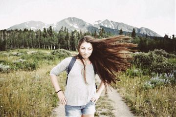wanderlust wanderlusting adventure exciting mountains coloradomountains hair beautiful nature peace scenery portrait