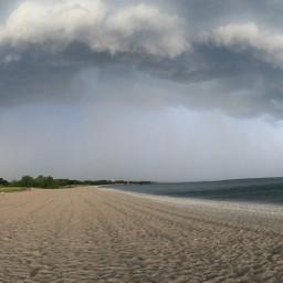 freetoedit beach kenosha storm clouds