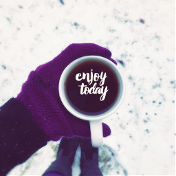freetoedit morning coffee snow winter